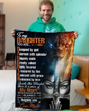 """Jes10084 - Daughter Designed By God Small Fleece Blanket - 30"""" x 40"""" aos-coral-fleece-blanket-30x40-lifestyle-front-09"""