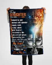 """Jes10084 - Daughter Designed By God Small Fleece Blanket - 30"""" x 40"""" aos-coral-fleece-blanket-30x40-lifestyle-front-14"""