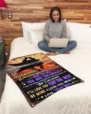 """BL10092 - To My Husband You Are The World Small Fleece Blanket - 30"""" x 40"""" aos-coral-fleece-blanket-30x40-lifestyle-front-08"""