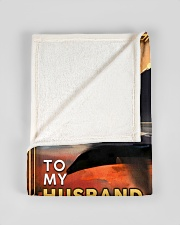 """BL10092 - To My Husband You Are The World Small Fleece Blanket - 30"""" x 40"""" aos-coral-fleece-blanket-30x40-lifestyle-front-17"""