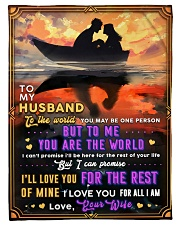 """BL10092 - To My Husband You Are The World Small Fleece Blanket - 30"""" x 40"""" front"""