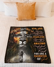 """JES10099 - You Are A Daughter Of God Small Fleece Blanket - 30"""" x 40"""" aos-coral-fleece-blanket-30x40-lifestyle-front-04"""