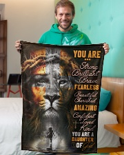 """JES10099 - You Are A Daughter Of God Small Fleece Blanket - 30"""" x 40"""" aos-coral-fleece-blanket-30x40-lifestyle-front-09"""