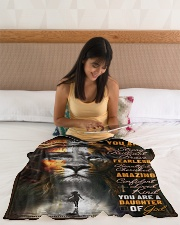"""JES10099 - You Are A Daughter Of God Small Fleece Blanket - 30"""" x 40"""" aos-coral-fleece-blanket-30x40-lifestyle-front-12"""