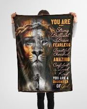"""JES10099 - You Are A Daughter Of God Small Fleece Blanket - 30"""" x 40"""" aos-coral-fleece-blanket-30x40-lifestyle-front-14"""