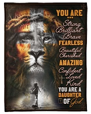 """JES10099 - You Are A Daughter Of God Small Fleece Blanket - 30"""" x 40"""" front"""