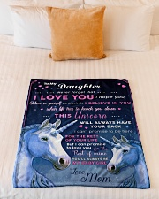 """BL10013P - Beloved Daughter Unicorn-Personalized Small Fleece Blanket - 30"""" x 40"""" aos-coral-fleece-blanket-30x40-lifestyle-front-04"""