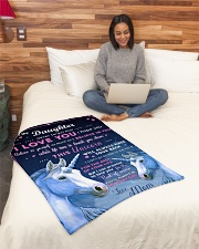 """BL10013P - Beloved Daughter Unicorn-Personalized Small Fleece Blanket - 30"""" x 40"""" aos-coral-fleece-blanket-30x40-lifestyle-front-08"""