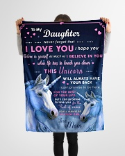 """BL10013P - Beloved Daughter Unicorn-Personalized Small Fleece Blanket - 30"""" x 40"""" aos-coral-fleece-blanket-30x40-lifestyle-front-14"""