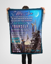 """BL10053 - To My Son Dad With Love Small Fleece Blanket - 30"""" x 40"""" aos-coral-fleece-blanket-30x40-lifestyle-front-14"""