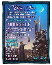 """BL10053 - To My Son Dad With Love Small Fleece Blanket - 30"""" x 40"""" front"""