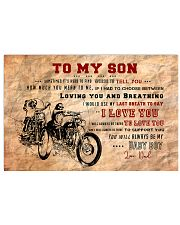 CV10003 - To My Son Motor Letter 17x11 Poster front