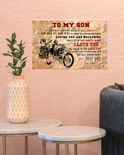 CV10003 - To My Son Motor Letter 17x11 Poster poster-landscape-17x11-lifestyle-21