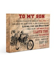 CV10003 - To My Son Motor Letter Gallery Wrapped Canvas Prints tile
