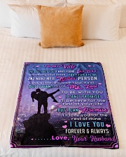"""BL10090 - To My Wife Whom My Soul Loves Small Fleece Blanket - 30"""" x 40"""" aos-coral-fleece-blanket-30x40-lifestyle-front-04"""