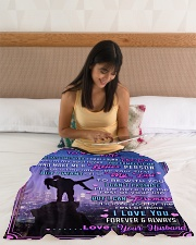 """BL10090 - To My Wife Whom My Soul Loves Small Fleece Blanket - 30"""" x 40"""" aos-coral-fleece-blanket-30x40-lifestyle-front-12"""