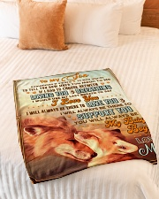 """BL10067 - To My Son Mom Letter Small Fleece Blanket - 30"""" x 40"""" aos-coral-fleece-blanket-30x40-lifestyle-front-01"""