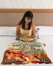 """BL10067 - To My Son Mom Letter Small Fleece Blanket - 30"""" x 40"""" aos-coral-fleece-blanket-30x40-lifestyle-front-12"""