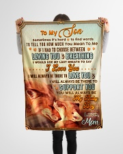 """BL10067 - To My Son Mom Letter Small Fleece Blanket - 30"""" x 40"""" aos-coral-fleece-blanket-30x40-lifestyle-front-14"""