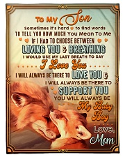 """BL10067 - To My Son Mom Letter Small Fleece Blanket - 30"""" x 40"""" front"""