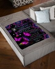 """FBC10006 - To My Daughter Never Forget Small Fleece Blanket - 30"""" x 40"""" aos-coral-fleece-blanket-30x40-lifestyle-front-03"""