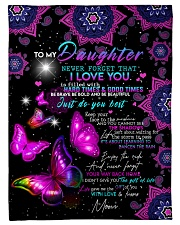"""FBC10006 - To My Daughter Never Forget Small Fleece Blanket - 30"""" x 40"""" front"""
