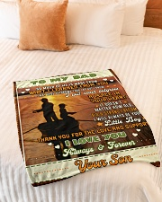 """BL10097 - To My Dad Fishing Love Son Small Fleece Blanket - 30"""" x 40"""" aos-coral-fleece-blanket-30x40-lifestyle-front-01"""