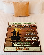 """BL10097 - To My Dad Fishing Love Son Small Fleece Blanket - 30"""" x 40"""" aos-coral-fleece-blanket-30x40-lifestyle-front-04"""