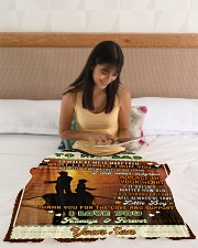 """BL10097 - To My Dad Fishing Love Son Small Fleece Blanket - 30"""" x 40"""" aos-coral-fleece-blanket-30x40-lifestyle-front-12"""