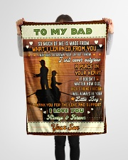 """BL10097 - To My Dad Fishing Love Son Small Fleece Blanket - 30"""" x 40"""" aos-coral-fleece-blanket-30x40-lifestyle-front-14"""
