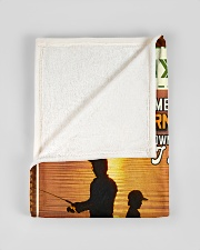 """BL10097 - To My Dad Fishing Love Son Small Fleece Blanket - 30"""" x 40"""" aos-coral-fleece-blanket-30x40-lifestyle-front-17"""