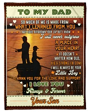 """BL10097 - To My Dad Fishing Love Son Small Fleece Blanket - 30"""" x 40"""" front"""