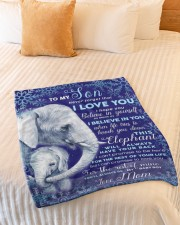 """BL10102 - To My Son Elephant Love Mom Small Fleece Blanket - 30"""" x 40"""" aos-coral-fleece-blanket-30x40-lifestyle-front-01a"""