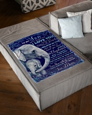 """BL10102 - To My Son Elephant Love Mom Small Fleece Blanket - 30"""" x 40"""" aos-coral-fleece-blanket-30x40-lifestyle-front-03"""