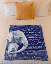 """BL10102 - To My Son Elephant Love Mom Small Fleece Blanket - 30"""" x 40"""" aos-coral-fleece-blanket-30x40-lifestyle-front-04a"""