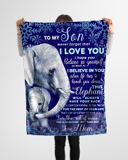 """BL10102 - To My Son Elephant Love Mom Small Fleece Blanket - 30"""" x 40"""" aos-coral-fleece-blanket-30x40-lifestyle-front-14"""