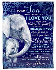 """BL10102 - To My Son Elephant Love Mom Small Fleece Blanket - 30"""" x 40"""" front"""