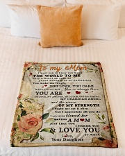 """BL10028 - To My Mom Flower Daughter Letter Small Fleece Blanket - 30"""" x 40"""" aos-coral-fleece-blanket-30x40-lifestyle-front-04"""