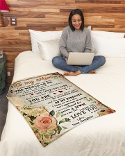 """BL10028 - To My Mom Flower Daughter Letter Small Fleece Blanket - 30"""" x 40"""" aos-coral-fleece-blanket-30x40-lifestyle-front-08"""