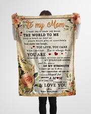 """BL10028 - To My Mom Flower Daughter Letter Small Fleece Blanket - 30"""" x 40"""" aos-coral-fleece-blanket-30x40-lifestyle-front-14"""