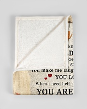 """BL10028 - To My Mom Flower Daughter Letter Small Fleece Blanket - 30"""" x 40"""" aos-coral-fleece-blanket-30x40-lifestyle-front-17"""