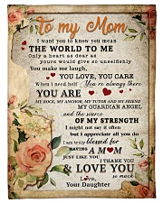"""BL10028 - To My Mom Flower Daughter Letter Small Fleece Blanket - 30"""" x 40"""" front"""