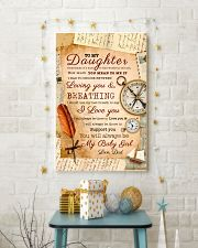CV10021 - To My Daughter Old Postcard Dad Letter 11x17 Poster lifestyle-holiday-poster-3