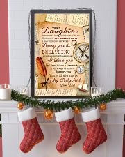 CV10021 - To My Daughter Old Postcard Dad Letter 11x17 Poster lifestyle-holiday-poster-4