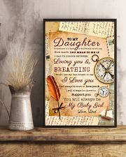 CV10021 - To My Daughter Old Postcard Dad Letter 11x17 Poster lifestyle-poster-3