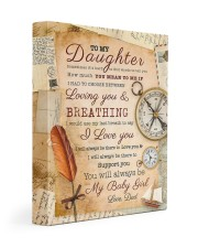 CV10021 - To My Daughter Old Postcard Dad Letter Gallery Wrapped Canvas Prints tile