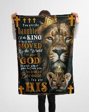 "JES10051BL - Jesus Christ  Small Fleece Blanket - 30"" x 40"" aos-coral-fleece-blanket-30x40-lifestyle-front-14"