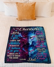 """BL10056N - To My Charlotte Dad Letter Small Fleece Blanket - 30"""" x 40"""" aos-coral-fleece-blanket-30x40-lifestyle-front-04"""
