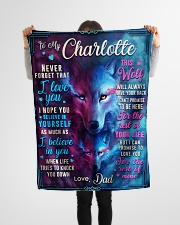 """BL10056N - To My Charlotte Dad Letter Small Fleece Blanket - 30"""" x 40"""" aos-coral-fleece-blanket-30x40-lifestyle-front-14"""