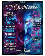 """BL10056N - To My Charlotte Dad Letter Small Fleece Blanket - 30"""" x 40"""" front"""